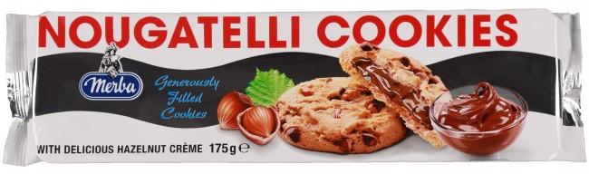 Merba - Merba Nougatelli Cookies 175 Gr. (1 Paket)