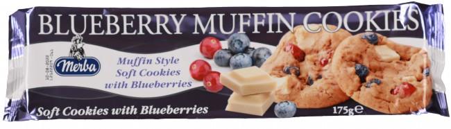 Merba - Merba Soft Blueberry Muffin Coolies 175 Gr. (1 Paket)