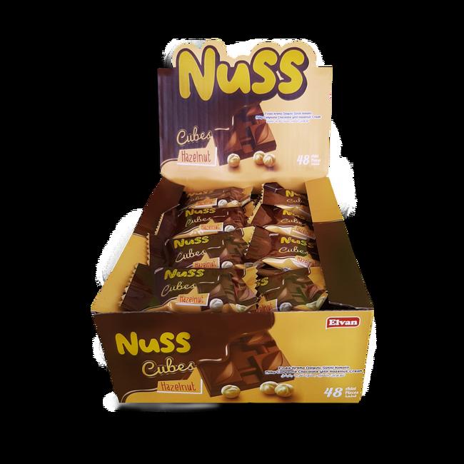 Elvan - Nuss Cubes Fındıklı 10Gr. 48 Adet (1 Kutu)