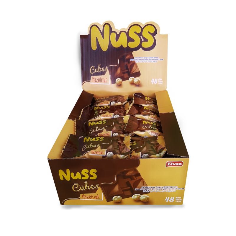 Nuss Cubes Fındıklı 10Gr. 48 Adet (1 Kutu)