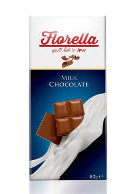 Fiorella Sütlü Çikolata Tablet 80 Gr. 10'lu (1 Kutu)