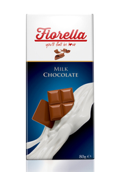 Fiorella - Fiorella Sütlü Çikolata Tablet 80 Gr. 10'lu (1 Kutu)