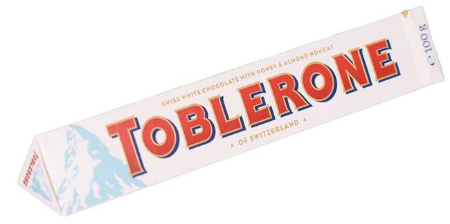 Toblerone - Toblerone Beyaz Çikolata 100 Gr. (1 Adet)