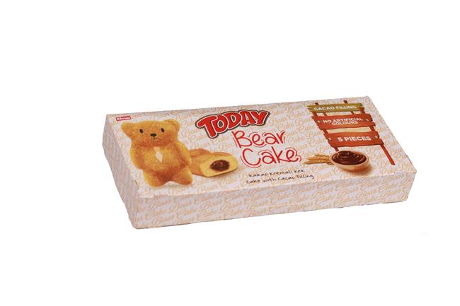 Elvan - Today Bear Çikolata Soslu Kek 40 Gr. 5 Adet (1 Paket)