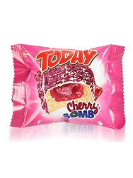 Elvan - Today Cherry Bomb Vişneli Kek 55 Gr. 24 Adet (1 Kutu)