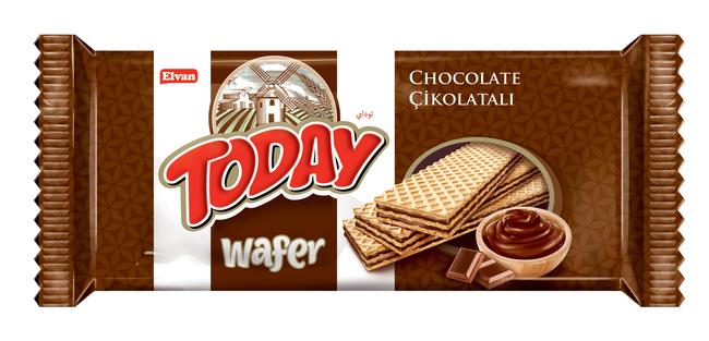 Elvan - Today Çikolatalı Gofret 40Gr. 24'lü (1 Paket)