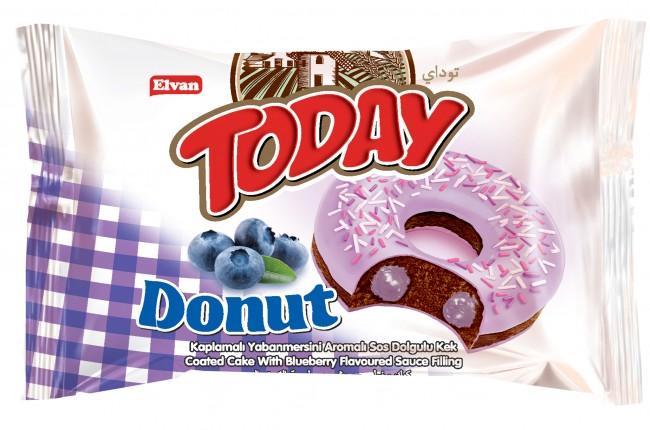 Elvan - Today Donut Kek Yabanmersinli 35 Gr. 1 Adet