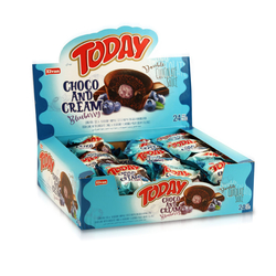 Elvan - Today Double Choco And Cream Yabanmersinli 50 Gr. 24 Adet (1 Kutu)