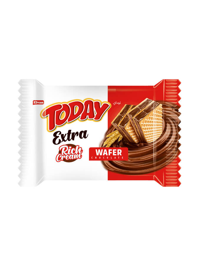 Today Extra Bol Kremalı Çikolatalı Gofret 50Gr. 24 Adet (1 Kutu)