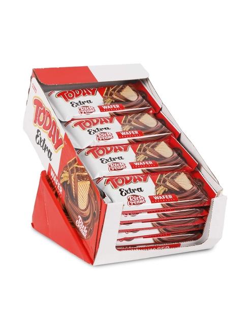 Elvan - Today Extra Bol Kremalı Çikolatalı Gofret 50Gr. 24 Adet (1 Kutu)