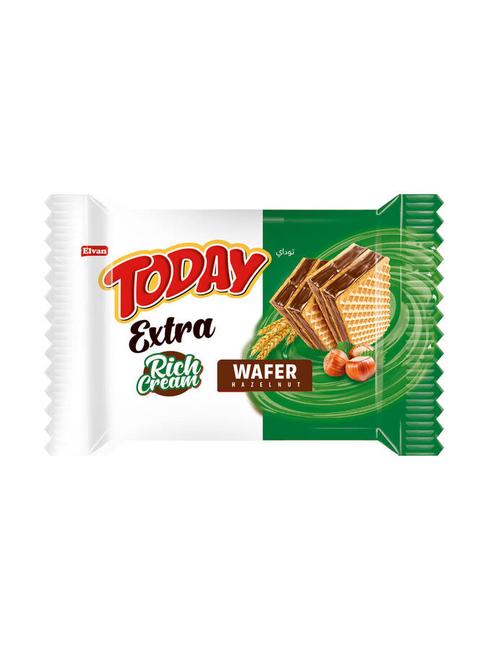 Elvan - Today Extra Bol Kremalı Fındıklı Gofret 50Gr. 1 Adet