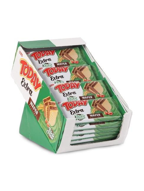 Elvan - Today Extra Bol Kremalı Fındıklı Gofret 50Gr. 24 Adet (1 Kutu)