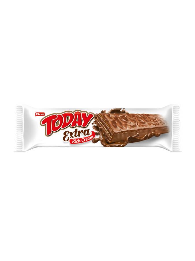 Today Extra Çikolata Kaplamalı Bol Kremalı Fındıklı Gofret 45GR 24 Adet (1 kutu)
