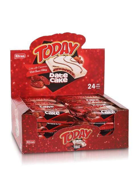 Elvan - TODAY Hurmalı Tarçınlı Date Cake 40Gr. 24 Adet (1 Kutu)
