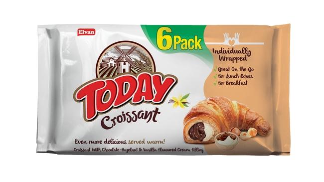 Elvan - Today Kruvasan Çikolata Vanilyalı 45 Gr. 6 Adet (1 Kutu)