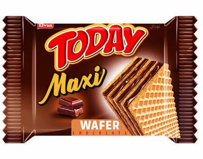 Today Maxi Çikolatalı Gofret 38 Gr. 24 Adet ( 1 Kutu)