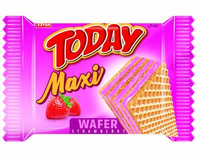 Today Maxi Çilekli Gofret 38 Gr. 24 Adet (1 Kutu)