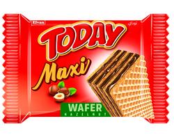 Elvan - Today Maxi Fındıklı Gofret 38 Gr. 24 Adet ( 1 Kutu)