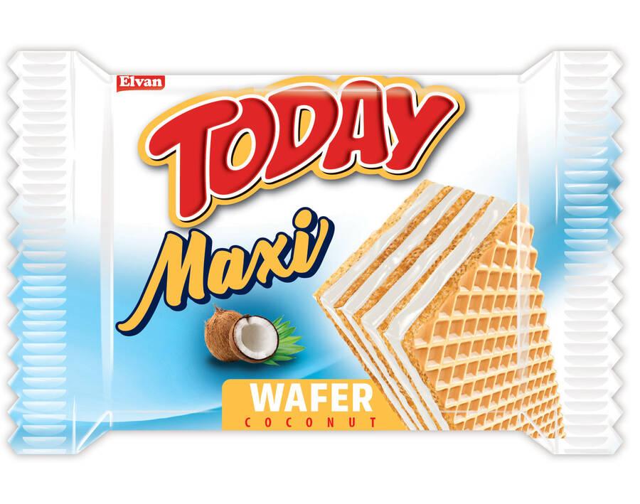Today Maxi Hindistan Cevizli Gofret 38 Gr. 24 Adet ( 1 Kutu)