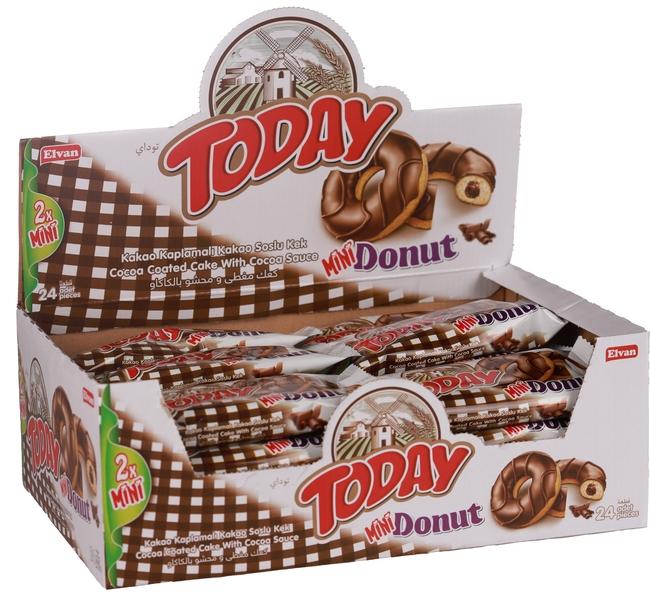 Elvan - Today Mini Donut Kakaolu Kek 40 Gr. (1 Paket)