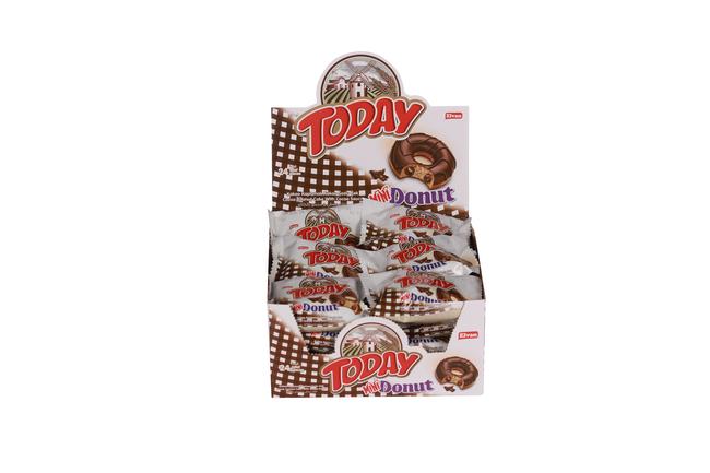 Elvan - Today Mini Donut Kek Kakaolu 20 Gr. 24 Lü (1 Paket)