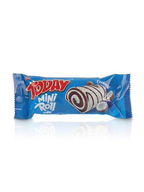 Elvan - Today Mini Roll Cake Hindistan Cevizi Kaplamalı 55Gr. 24 Adet (1 Kutu)