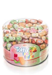Toffix Fudge Meyveli Şeker 1000 Gr. Silindir (1 Kutu)