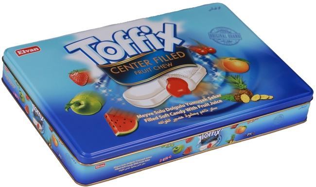 Elvan - Toffix Mix Şeker 600 Gr. (1 Teneke Kutu)