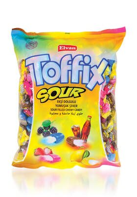 Toffix Sour Mix Şeker 1000 Gr. (1 Poşet)