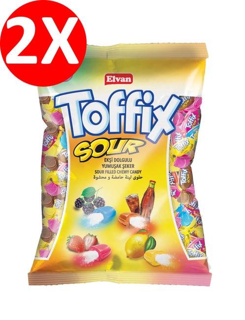 Elvan - Toffix Sour Mix Şeker 300 Gr. 2 Li Paket