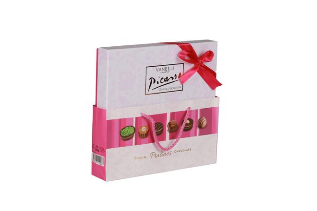 Vanelli - Vanelli Picasso Madlen Mix Çikolata 200 Gr. (1 Pembe Kutu)